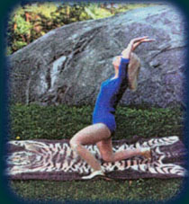 Eugenia in Step 8 of The Moon Salutation.